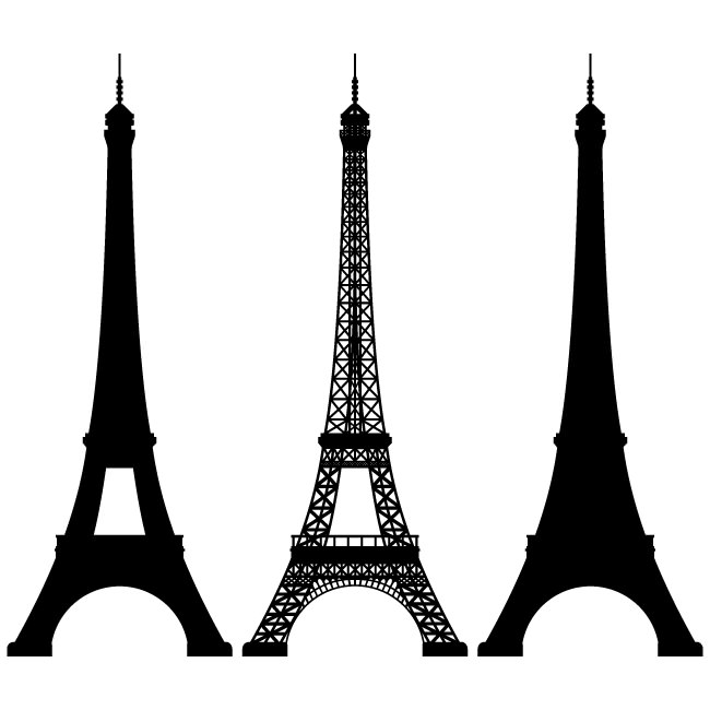Eiffel Tower clipart silhouette Pinterest Vector clipart silhouettes Eiffel