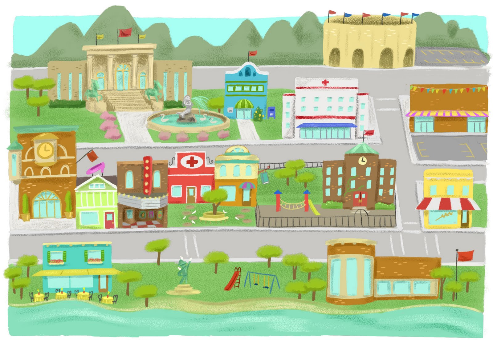 Places clipart town Free Images Clipart town%20clipart Panda