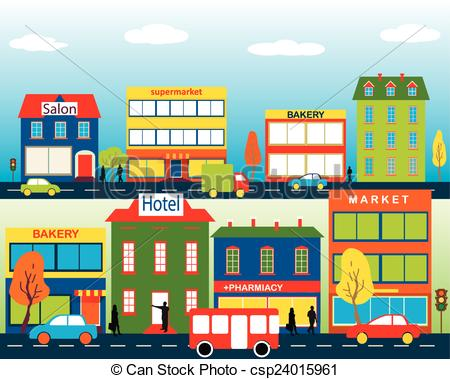 Town clipart Business Art medium of small