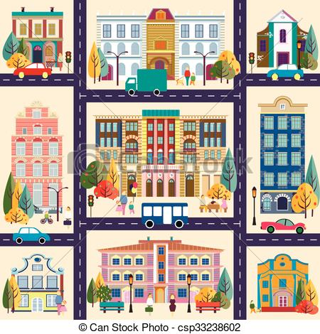 Town clipart Clipart town buildings buildings and