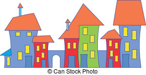 Town clipart Illustrations 43 Town town house
