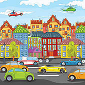 Town clipart busy city #6