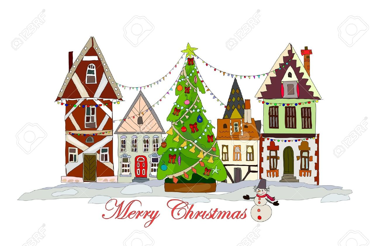 Town clipart christmas town #5
