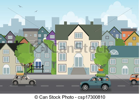 Drawn scenery city traffic Clip background  traffic Scenery