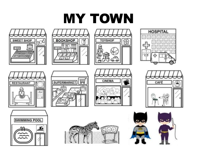 Town clipart my town #9