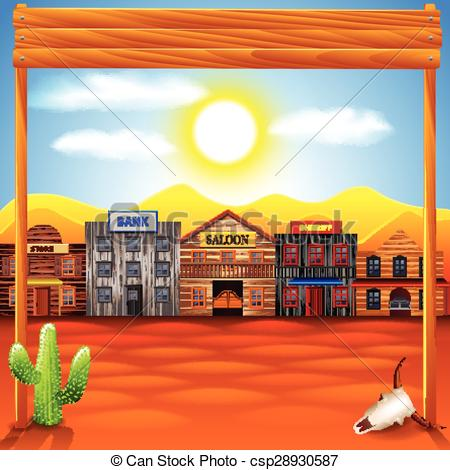 Town clipart old west #4