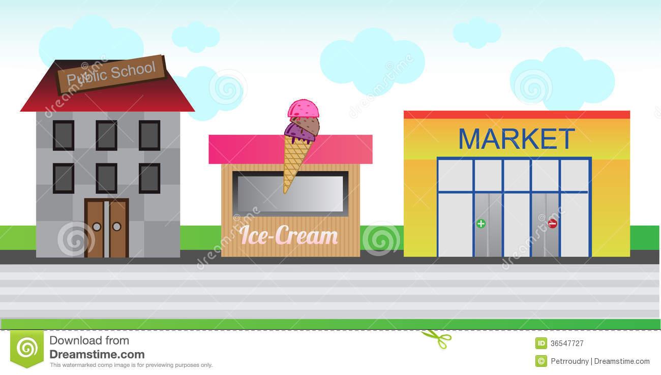 Town clipart street shop #4