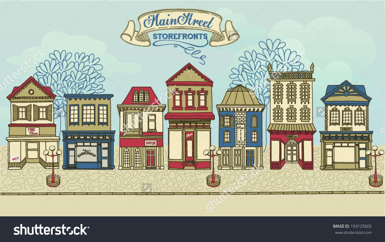 Town clipart street shop #3