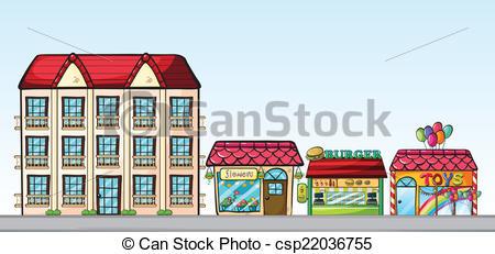 Town clipart street shop #5