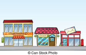 Town clipart street shop #2