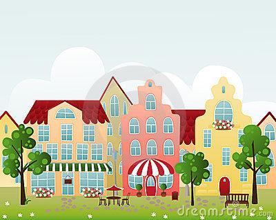 Town clipart town street #13