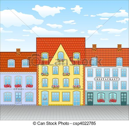 Old Town clipart rothenburg ob der tauber Vector in Street Clip Search