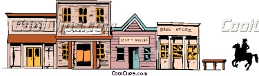 Town clipart western #10