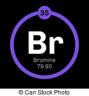 Toxic clipart atomic Toxic bromine icon  number