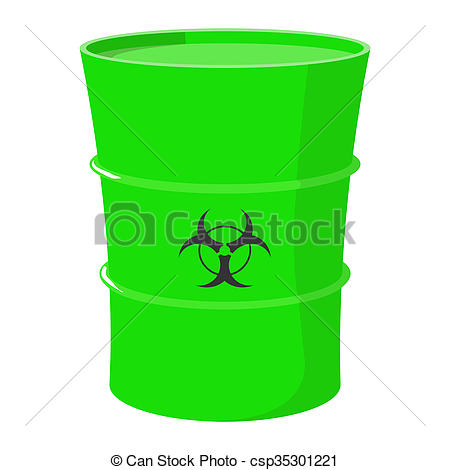 Toxic clipart can Clip waste  waste white