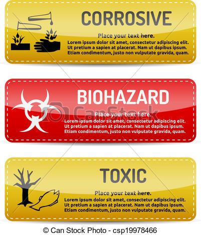 Toxic clipart danger Sign of Vector set