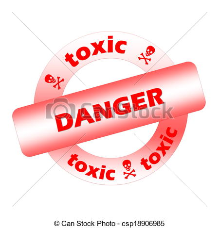 Toxic clipart danger With and white Red in