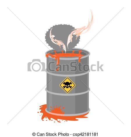 Toxic clipart danger Liquid of  Vector cask