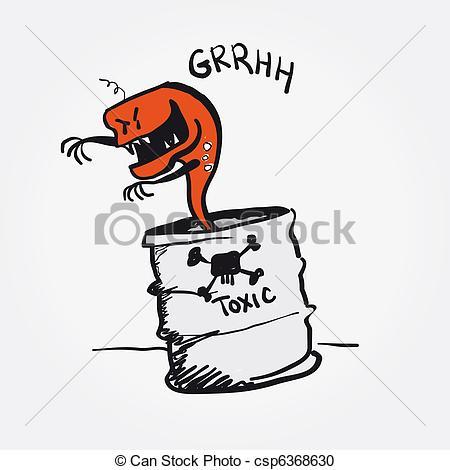 Toxic clipart danger Danger alert Toxic vector Stock