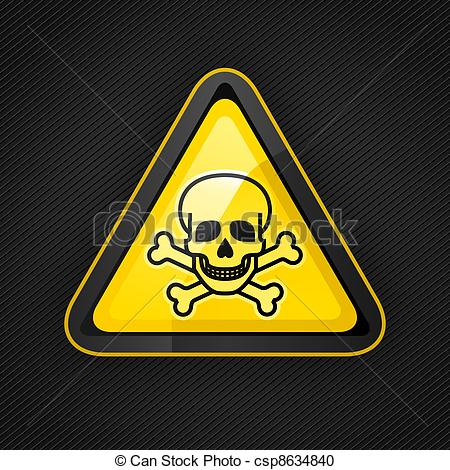 Toxic clipart logo Warning  surface on metal