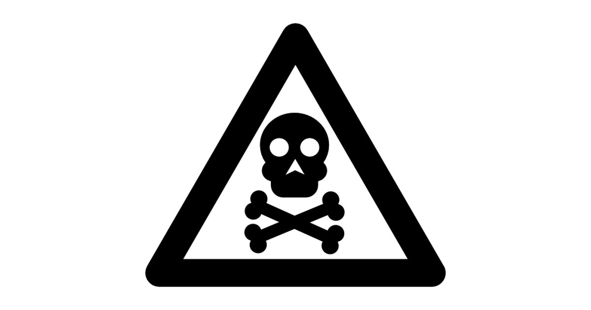 Toxic clipart logo Toxic signs warning icons Free