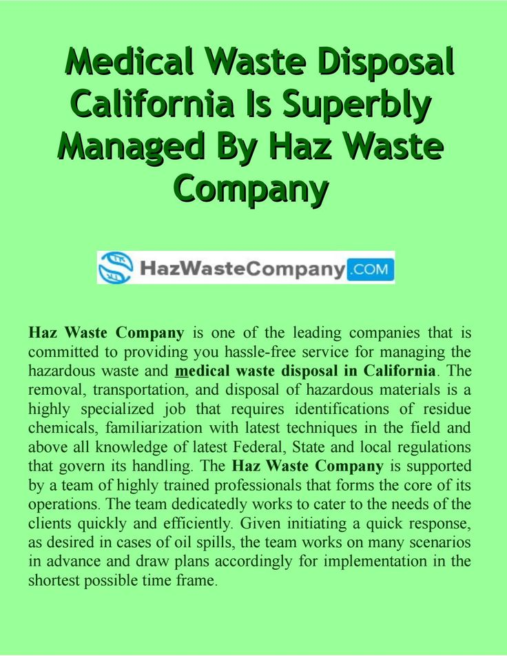 Toxic clipart medical waste Waste is management superbly managed
