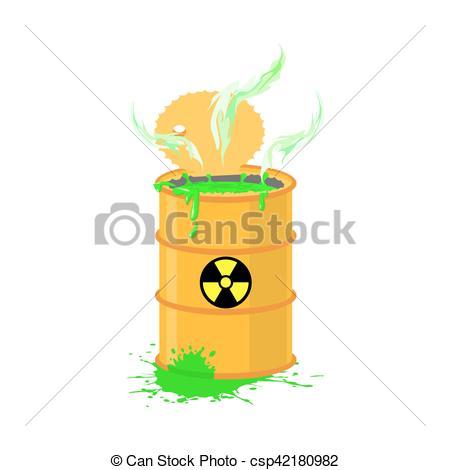 Toxic clipart radioactive pollution Cask refuse keg Radioactive refuse