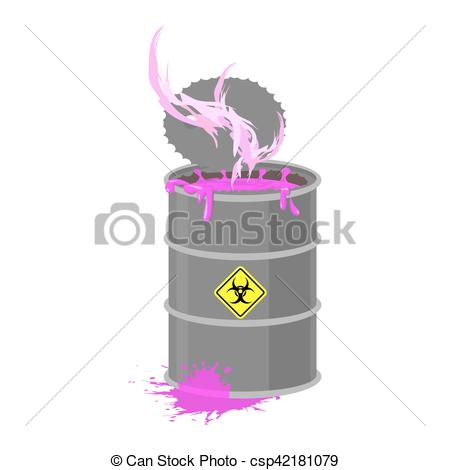 Toxic clipart radioactive pollution Chemical keg  garbage keg