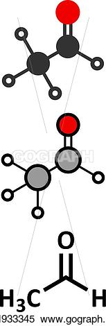 Toxic clipart responsible Vector Acetaldehyde is molecule responsible