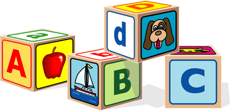 Toy clipart abcd #2