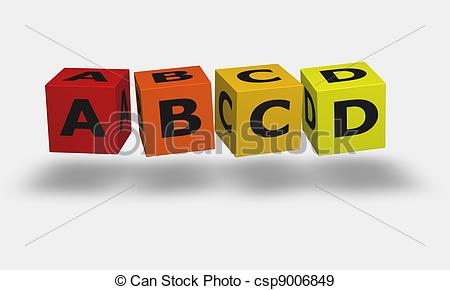 Toy clipart abcd #3