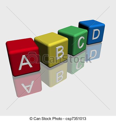 Toy clipart abcd #5