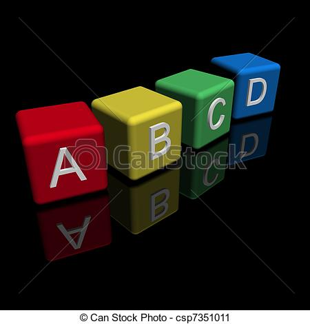 Toy clipart abcd #10