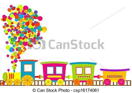 Train clipart colored #2