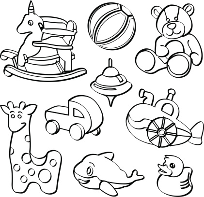 Toy clipart outline #11