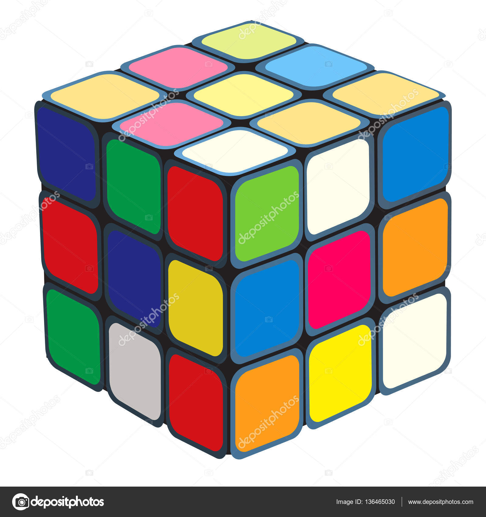 Toy clipart rubik's cube #1