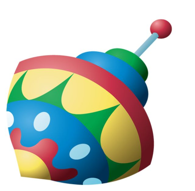 Toy clipart spinning top #8