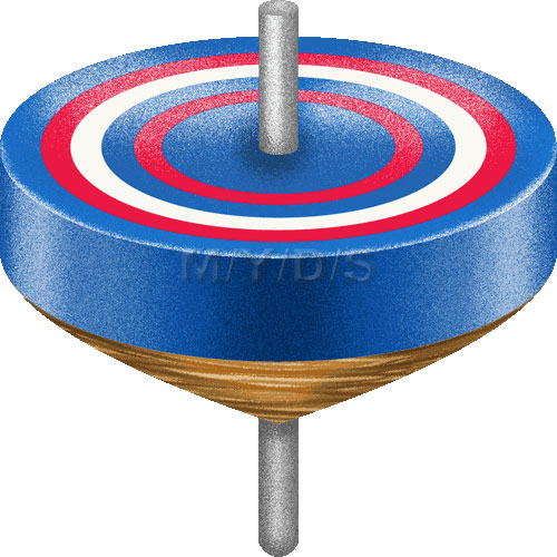 Toy clipart spinning top #4