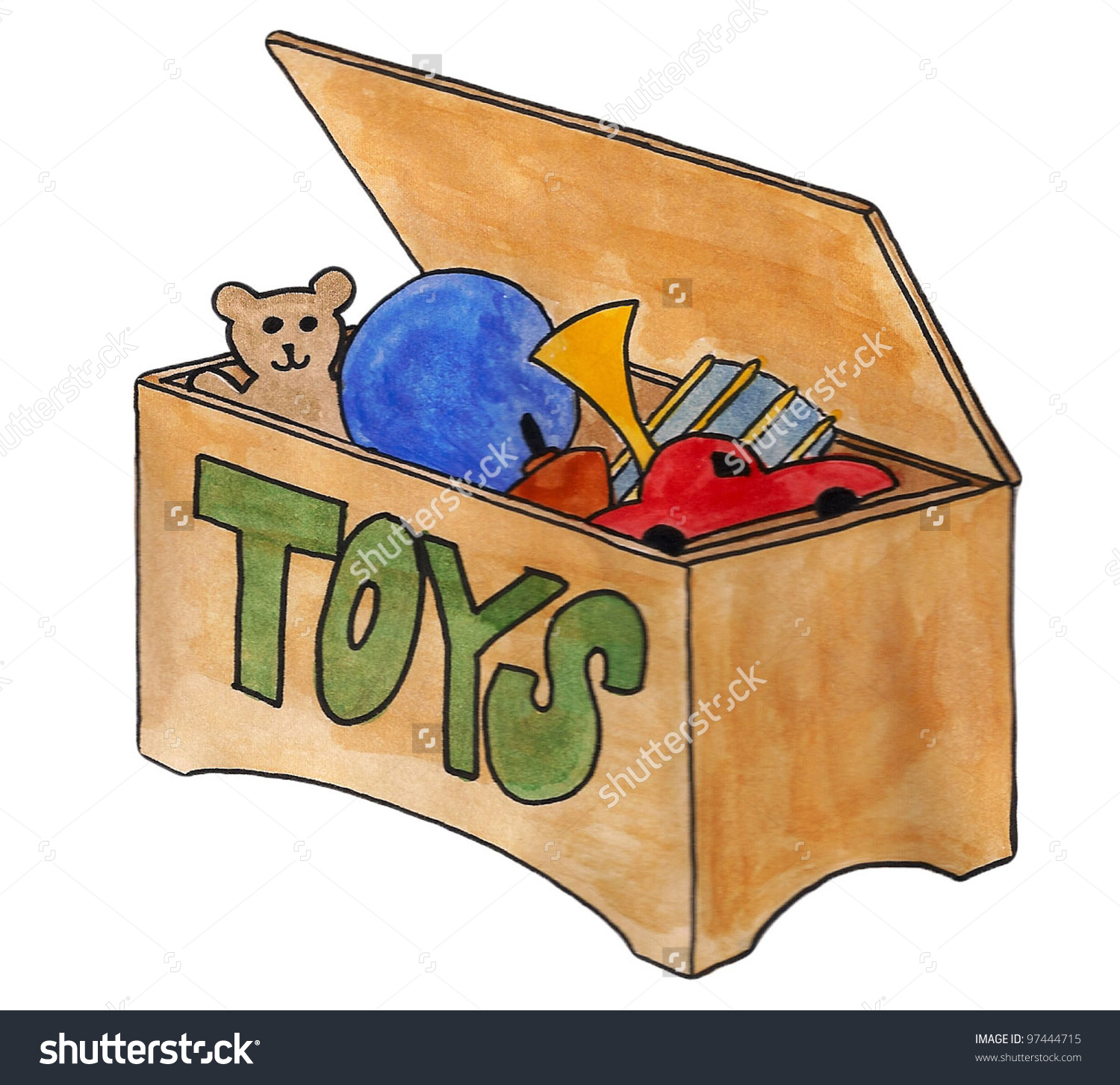 Toy clipart toy box #5