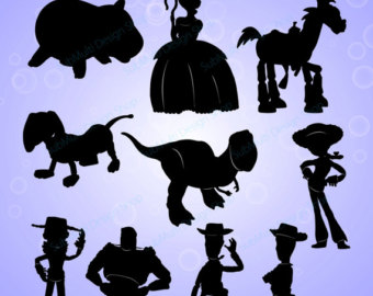 Figurine clipart silhouette Story toy SVG / toy