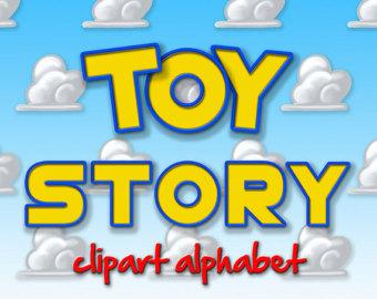 Toy Story clipart cloud Etsy Alphabet Story Numbers Toy