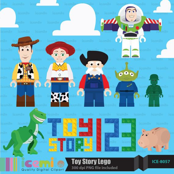 Toy Story clipart digital Character story 70 50 best