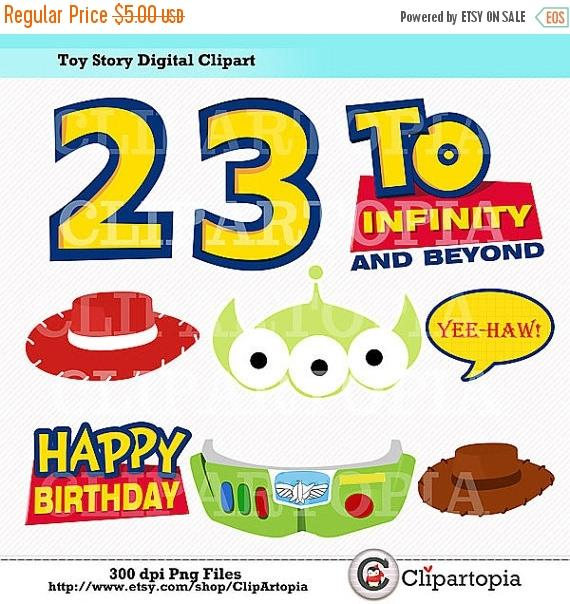 Toy Story clipart digital SALE Party Story Digital T