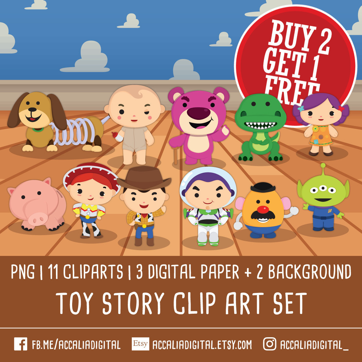 Toy Story clipart digital Toy accalia Toys digital Story