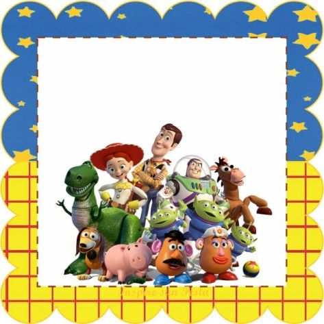 Toy Story clipart frame Best clipart story story personalizadas/