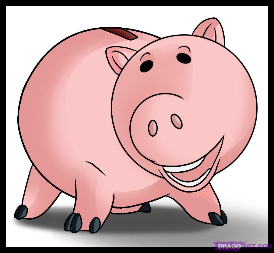 Toy Story clipart piggy How draw Characters Draw to