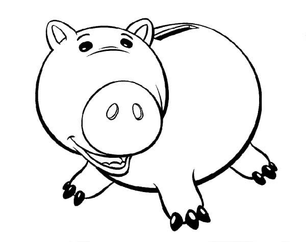 Toy Story clipart piggy Toy Fat Coloring Page Coloring