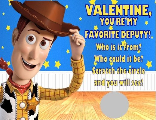 Toy Story clipart valentine Personalized best Story Valentine's Cards