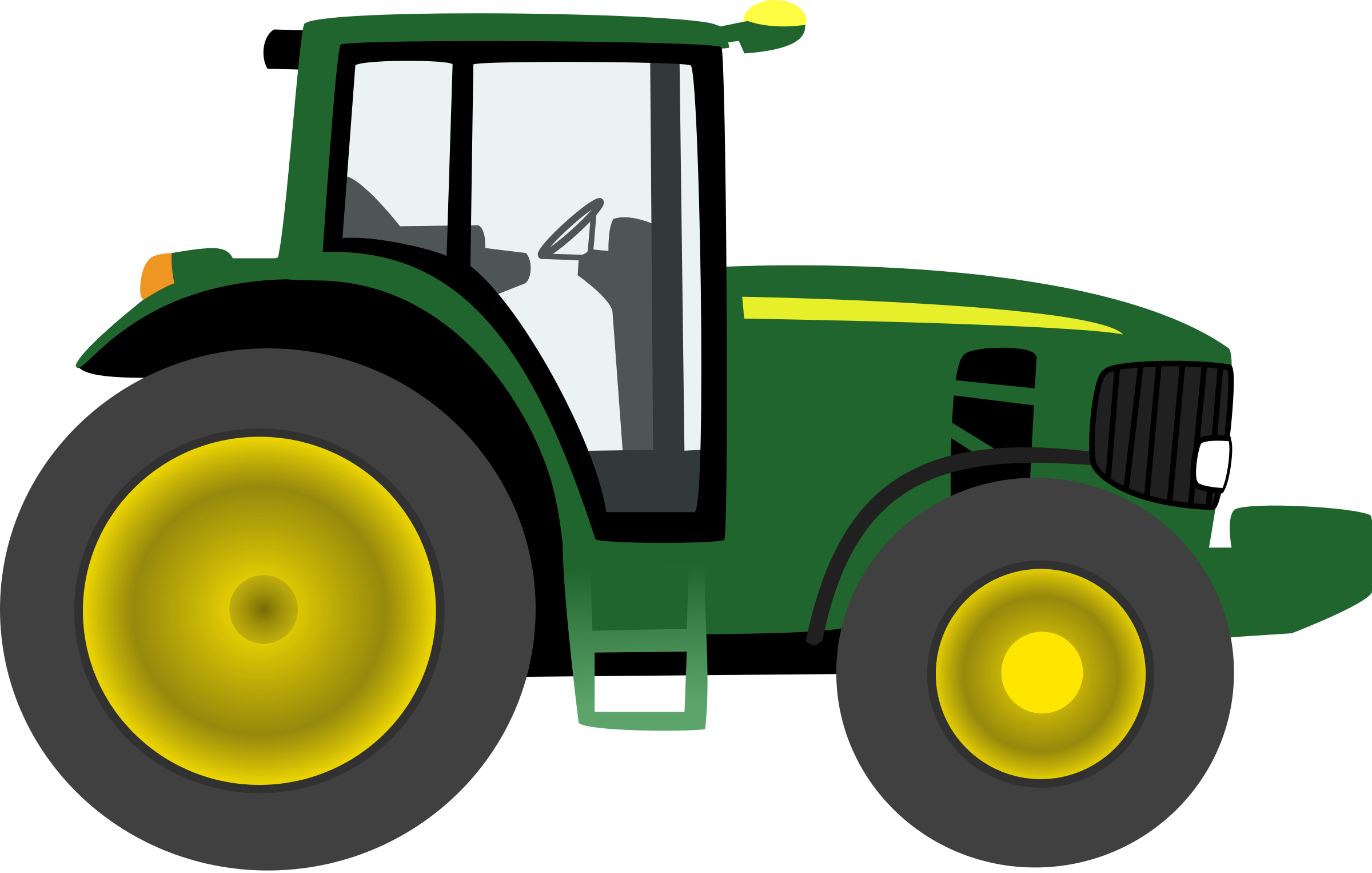 Simple clipart tractor #14