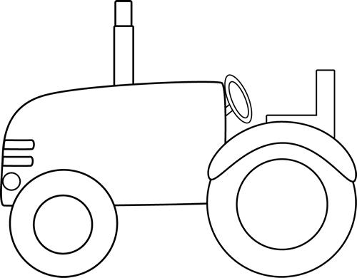 Tractor clipart black and white #14